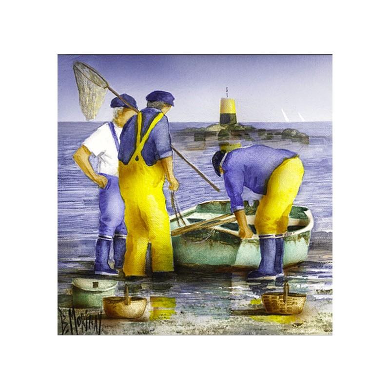 Digigraphie® en toile canvas avec  cadre de bernard Morinay : Grande Marée