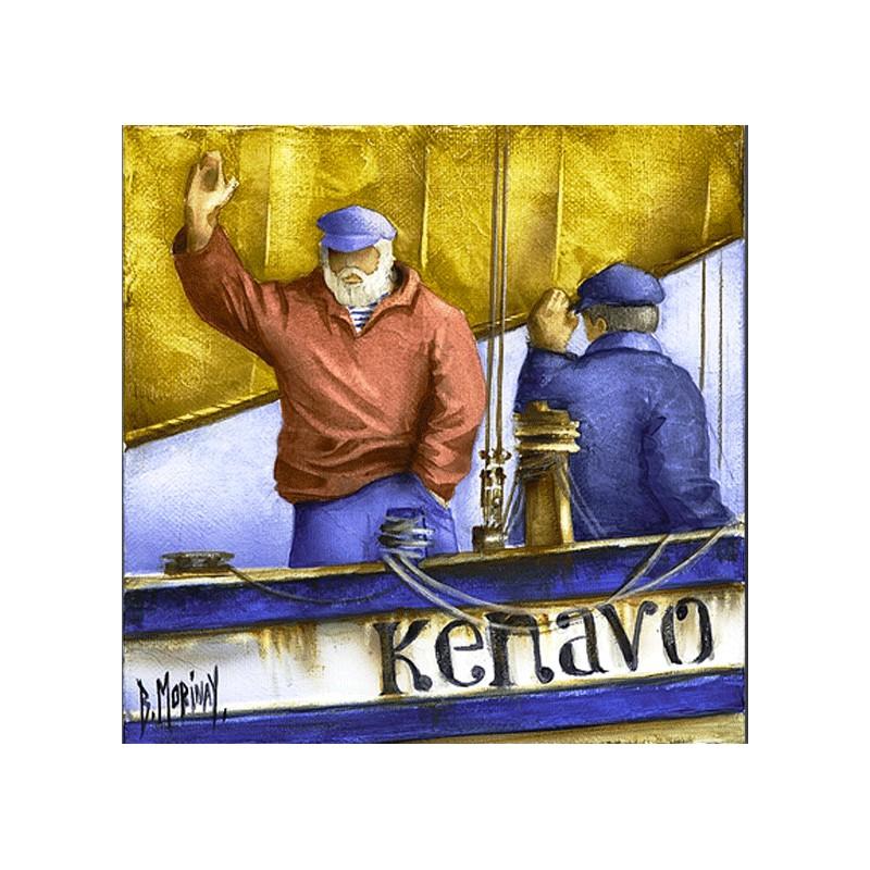 Digigraphie® en toile canvas avec  cadre de bernard Morinay : Kenavo