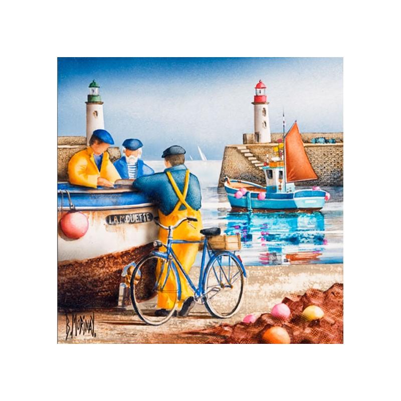 Digigraphie® en toile canvas avec  cadre de bernard Morinay : Le Palais