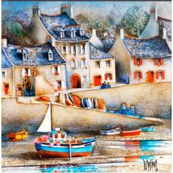 Digigraphie® en toile canvas avec  cadre de bernard Morinay : Le Drellac'h