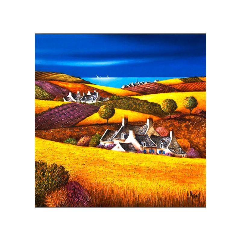 Digigraphie® en toile canvas avec  cadre de bernard Morinay : Marine champêtre