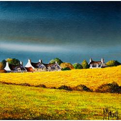 Digigraphie® en toile canvas avec  cadre de bernard Morinay : Orage d'été