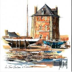 Digigraphie® en toile canvas avec  cadre de bernard Morinay : Tour Vauban