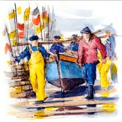 Digigraphie® en toile canvas avec  cadre de bernard Morinay : Sortie d'eau