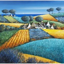 Digigraphie® en toile canvas avec  cadre de bernard Morinay : Polychromie