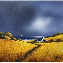 toile Bernard Morinay orage