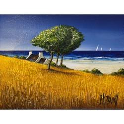 toile originale Bernard MORINAY blés marins