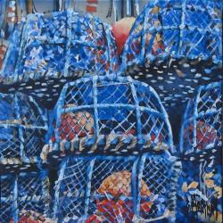 toile bernard morinay Les Casiers Bleus