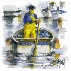 Digigraphie® en toile canvas SANS  cadre de bernard Morinay : Le godilleur