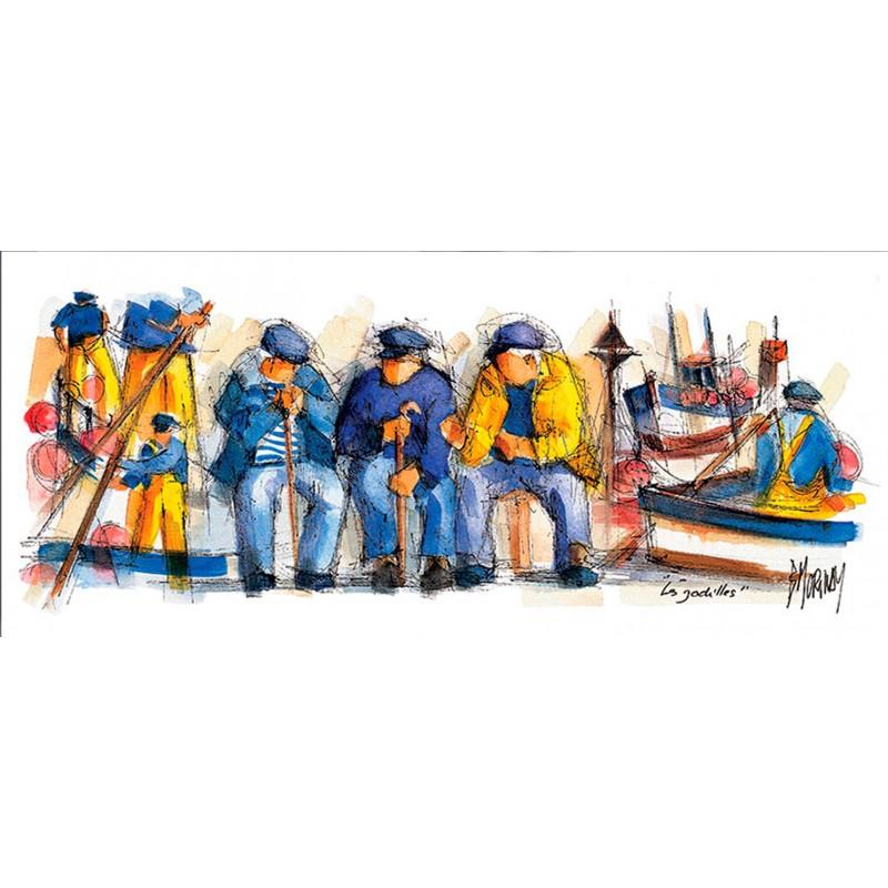 Digigraphie® en toile canvas avec  cadre de bernard Morinay : Les Godilles